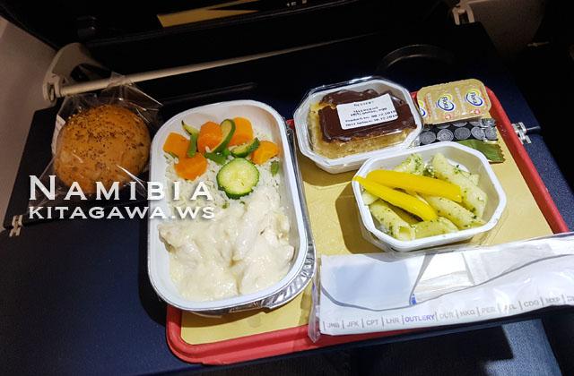 南アフリカ航空エコノミークラス 機内食