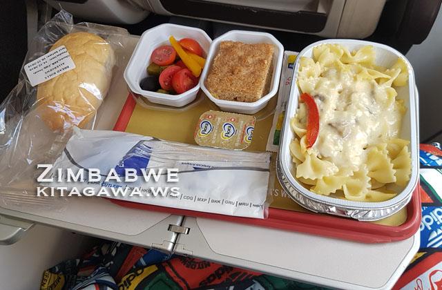 南アフリカ航空 機内食