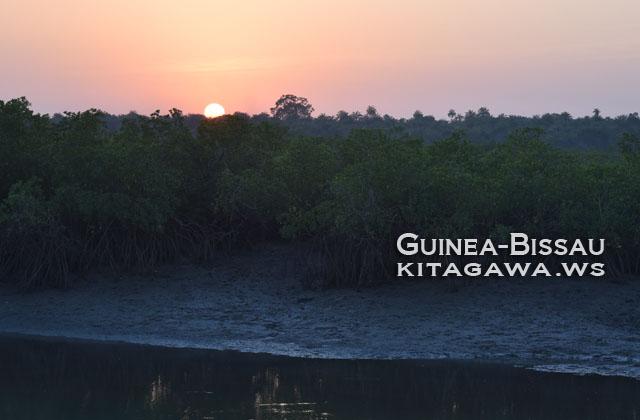 ギニアビサウ 夕陽 サンセット