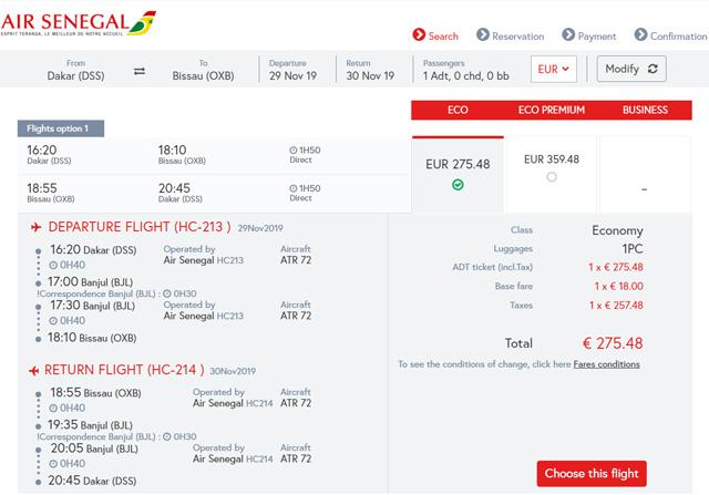 エアセネガル航空券